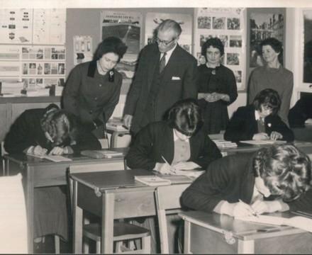 HRH The Queen visits Charters School in 1962