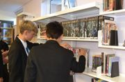 Library boys shelf
