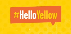 Hello yellow a3 poster 1